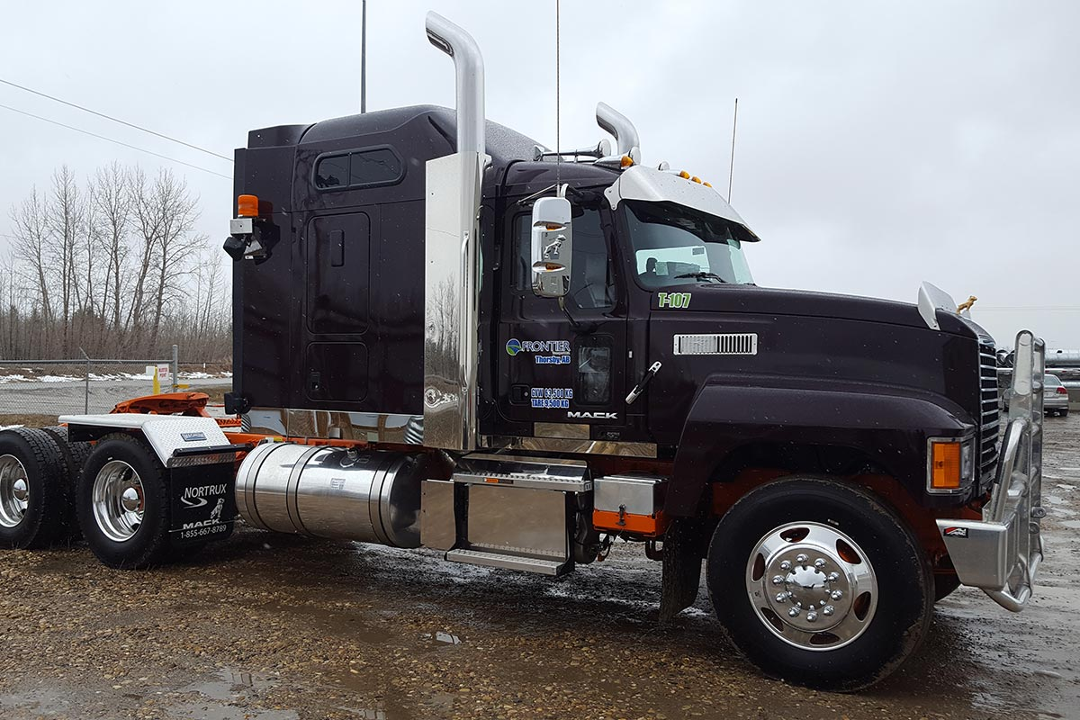 Frontier Transport Hauling Truck in Western Canada